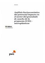Impacto Socioeconómico Prohibición Microplásticos 2020